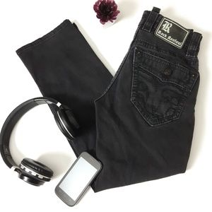 Rock Revival Black Straight Leg Jeans petite